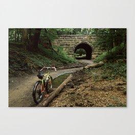 Exploring/ Under the Bridge Canvas Print