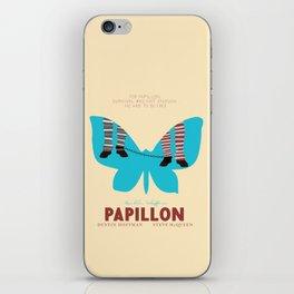 Papillon, Steve McQueen vintage movie poster, retrò playbill, Dustin Hoffman, hollywood film iPhone Skin