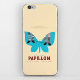 Papillon, Steve McQueen vintage movie poster, retrò playbill, Dustin Hoffman, hollywood film iPhone Skin