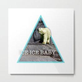 Ice cold bear Metal Print