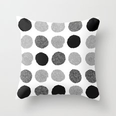 Yves - greyscale monochrome minimal pattern dots art print cell phone case for modern decor Throw Pillow