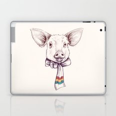 Pig and scarf Laptop & iPad Skin