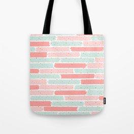 Pink & Green Geometric Gym Pattern Tote Bag