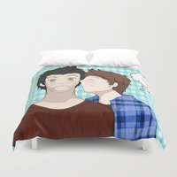 sterek Duvet Covers featuring Sterek #1 by liloloveyou024
