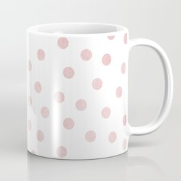 Simply Dots in Rose Gold Sunset Coffee Mug