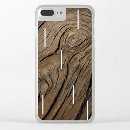 Old Wood V2 Clear iPhone Case