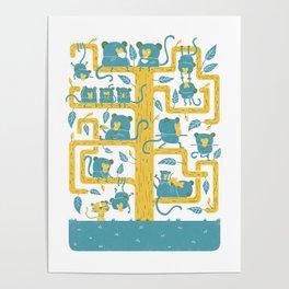 Monkeys Family Poster