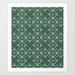 ST Entwined: Teal-Pink-Bronze Art Print
