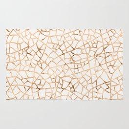 Crackle Gold Foil Rug