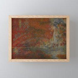 Eroded Frame Framed Mini Art Print
