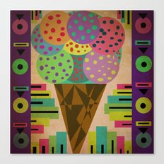 fancy ice cream Canvas Print