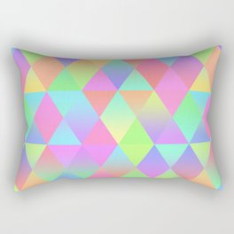Colorful Geometric Pattern Prism Holographic Foil Triangle Texture Rectangular Pillow
