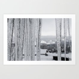 Snow Landscape Through Ice Art Print