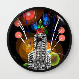 Queen City New Year Wall Clock