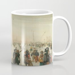 Winter landscape at a city - Hendrick Avercamp (1620) Coffee Mug