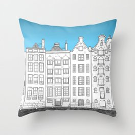 Dancing houses, Amsterdam Throw Pillow