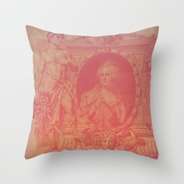 Pink Ruble Throw Pillow