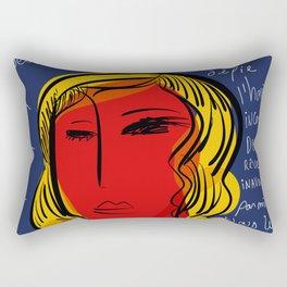 La fille du soleil Rectangular Pillow