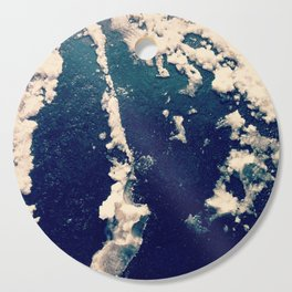 Winter Snow Temporary Abstractions no. 1 Cutting Board