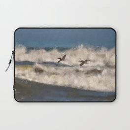 Between The Waves Laptop Sleeve