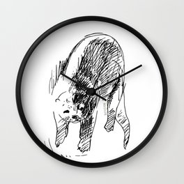 Otter in lines (c) 2017 Wall Clock