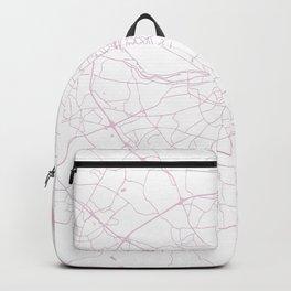White on Pink Dublin Street Map Backpack