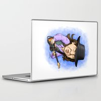 stevie nicks Laptop & iPad Skins featuring Stevie Ray Vaughan by Justin Smith