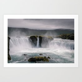 Waterfall 02 - Iceland Art Print
