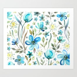 flower watercolor 5 Art Print