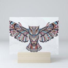Colorful Ethnic Owl Mini Art Print