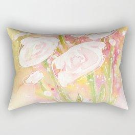 white flower bouquet Rectangular Pillow
