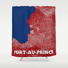 Port-au-Prince, Haiti street map Shower Curtain
