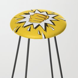 Yellow Fist by Star Counter Stool