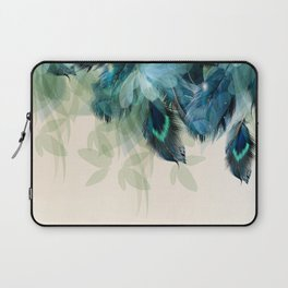Beautiful Peacock Feathers Laptop Sleeve