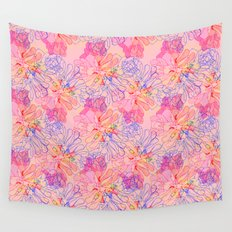 psychedelic succulent Wall Tapestry