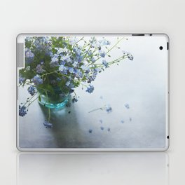Forget-me-not bouquet in Blue jar Laptop & iPad Skin
