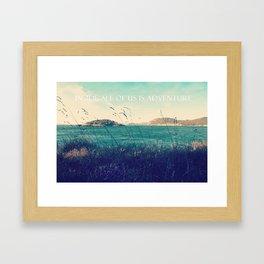 inside all of us is adventure Framed Art Print