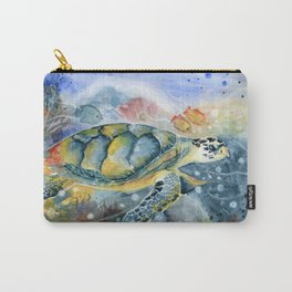 Colorful Seaturtle Art Carry-All Pouch