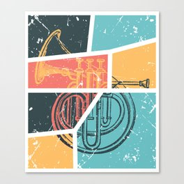 French Horn Retro Funny print French Horn Player Gift Canvas Print