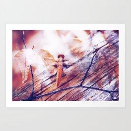 Dragonfly :: Twiggy Art Print