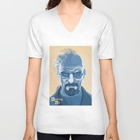 heisenberg V-neck T-shirts featuring Heisenberg by James Northcote