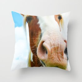 Horse in the Clouds Throw Pillow