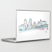 portland Laptop & iPad Skins featuring Portland by Ursula Rodgers
