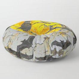 HALLOWEEN NIGHT BATS & RAVEN GOLDEN  MOON Floor Pillow