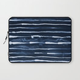 Electric Ink Indigo Navy Stripes Laptop Sleeve