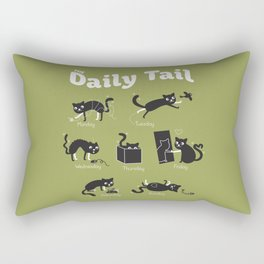 The Daily Tail Cat Rectangular Pillow
