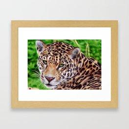 Jaguar - Ballpoint Pen Framed Art Print