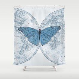 World Traveler Light Shower Curtain