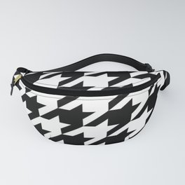 retro fashion classic modern pattern black and white houndstooth Fanny Pack