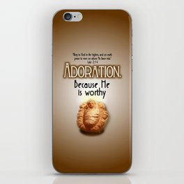 Adoration.  Because He is Worthy iPhone Skin